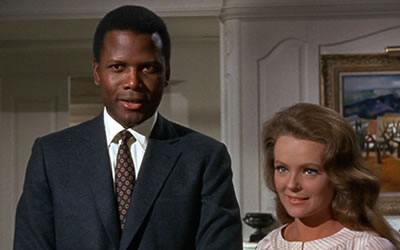 Sidney Poitier and Katharine Houghton in Guess Whos