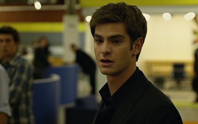 Andrew Garfield as Eduardo Saverin in The Social Network (2010)