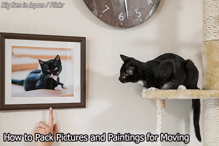 How to pack pictures for moving