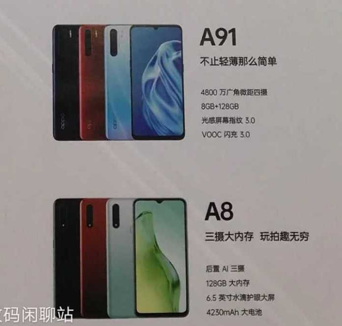 Oppo A91 and Oppo A8 2020