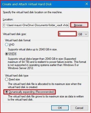 Create virtual hard disk and enable bitlocker in windows-10 -3