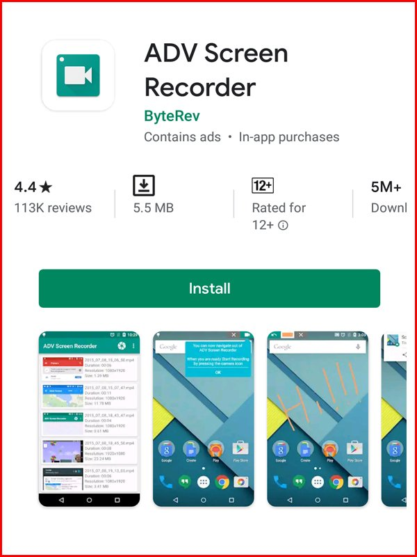 ADV android screen recording apps