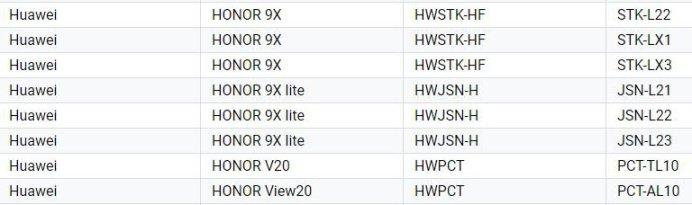 honor-9x-lite-google-play listing