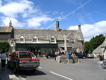 English: Corfe Castle Village Square This is t...