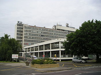 English: Hillingdon Hospital View of the hospi...