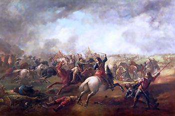 English: Battle of Marston Moor, 1644 by John ...