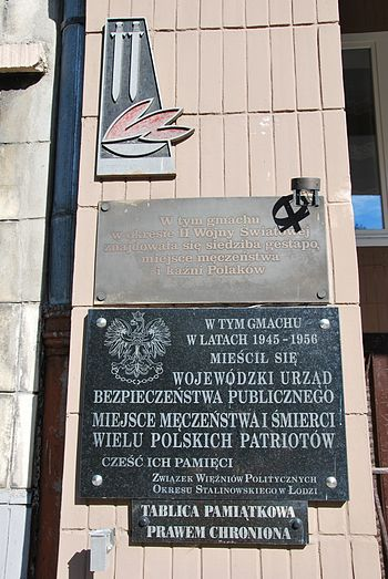 Plaque on former gestapo and communist secret ...