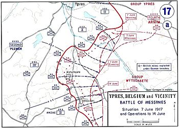Battle of Messines - 21 May to 7 June 1917.