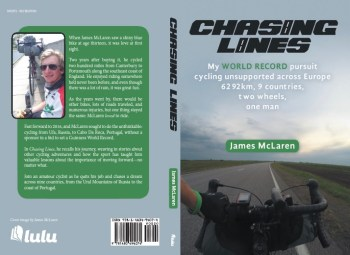 Cover of Chasing Lines by James Mclaren, the story of an epic 4,000 mile cycle ride across Europe (image: James McLaren)