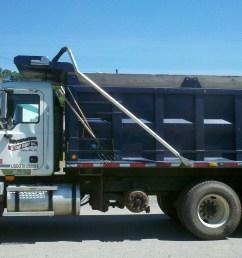 riverside stump dump s mack dump truck capacity 24 cubic yards of mulch or 16 cubic yards of topsoil  [ 2592 x 1456 Pixel ]