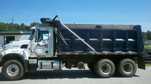 small resolution of riverside stump dump s mack dump truck capacity 24 cubic yards of mulch or 16 cubic yards of topsoil