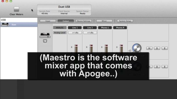 Apogee Maestro software mixer