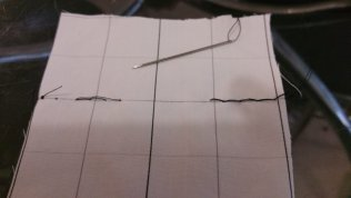 Backstitch left and running stitch right on the overleaf