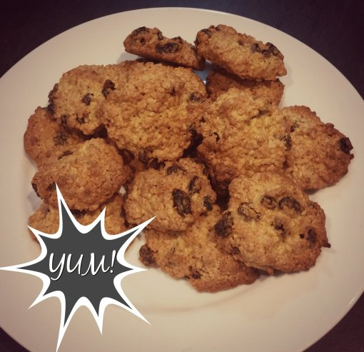 Oatmeal and raisin cookies YUM