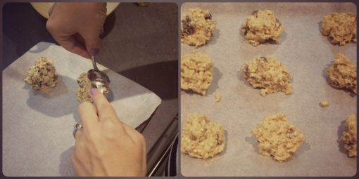 Making your oatmeal and raisin cookies