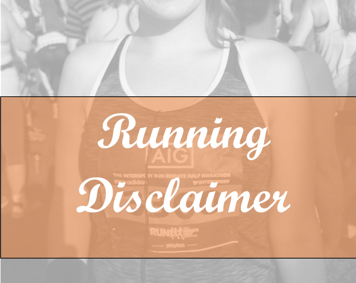 running disclaimer