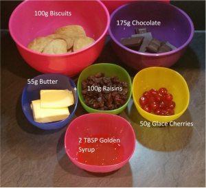 no bake bar ingredients graphic