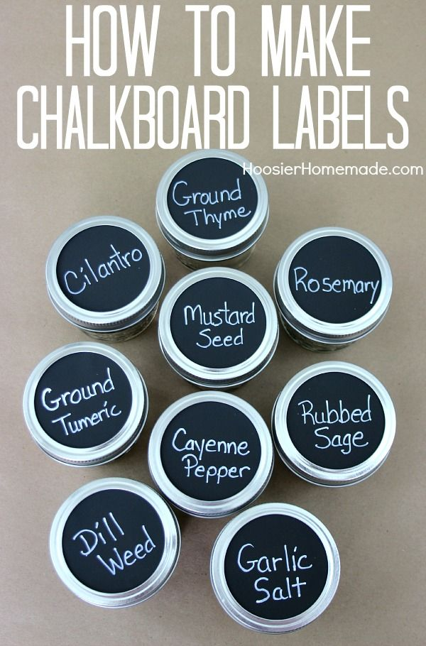 Hoosierhomemade.com - chalkboard labels - 10 projects for leftover chalkboard paint