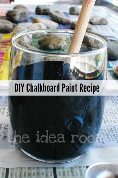 Idearoom - chalkboard paint recipe - 10 projects for leftover chalkboard paint