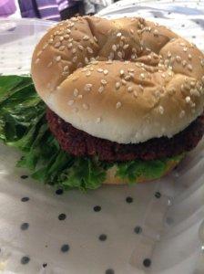 Vegan Burger - lunch day 1