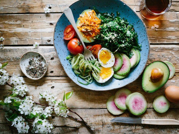 salad on a table weight loss food hacks