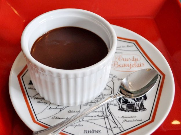 Dark Chocolate Pots de Creme From - leftover egg yolk recipe