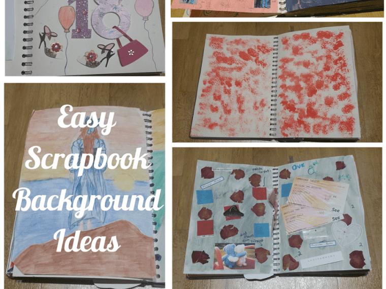 Easy Scrapbook Background Ideas