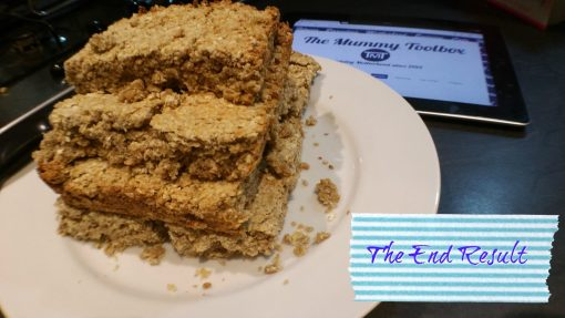 Banana & Honey Flapjacks - quick, tasty and healthier than store bought! - this is the tasty end result