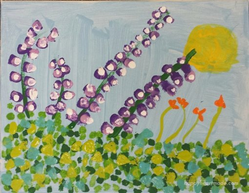 Finger Painting Flower Love Guest post by Michelle at Happy Heart Made Blog