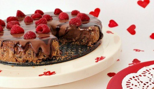 Chocolate Raspberry Cheesecake by Growing up Gabel