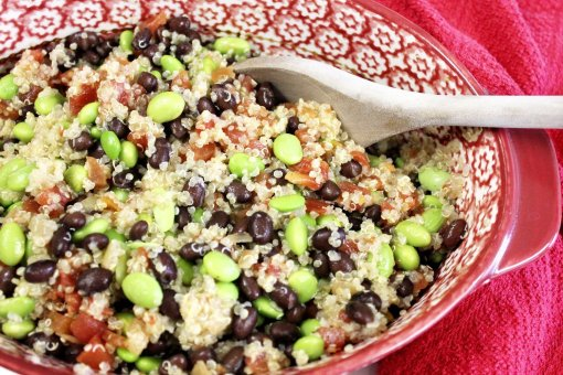 Double Bean Quinoa Salad - Life On Merlin