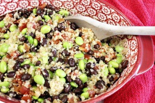 Double Bean Quinoa Salad - Life On Merlin