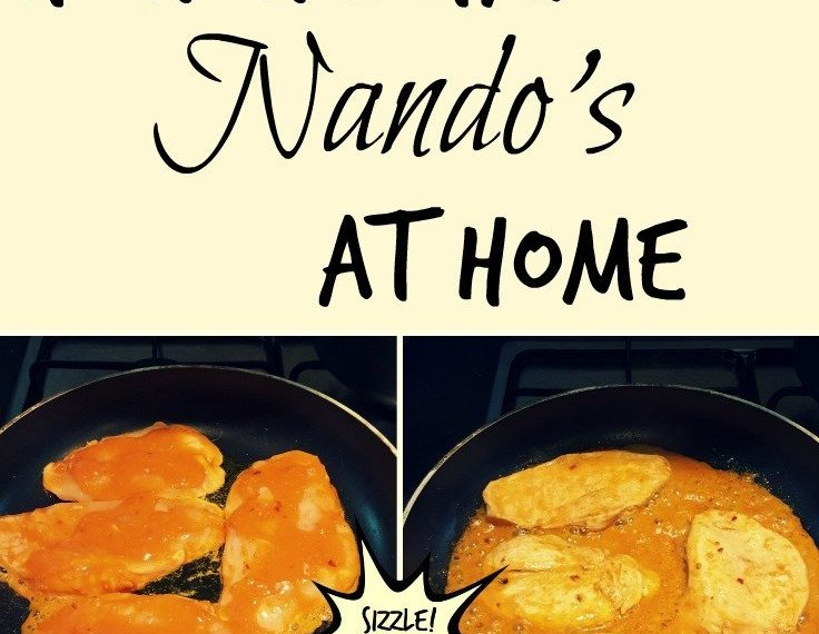 How We Had Nando's at home - peri-peri medium chicken marinade
