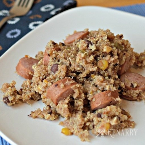 Easy, Turkey Sausage Quinoa by Kenarry