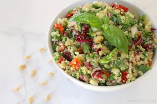 Mediterranean Quinoa Salad By Two healthy kitchens