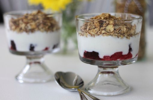 Power Parfaits with Quinoa Granola by Brittany's Pantry