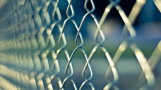chainlink fence - back to school walking safety
