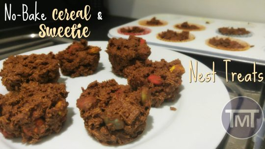 no bake cereal and sweetie nest treats feature
