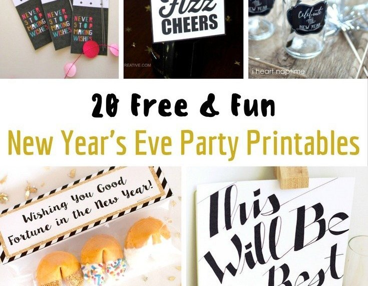 new years printable feature