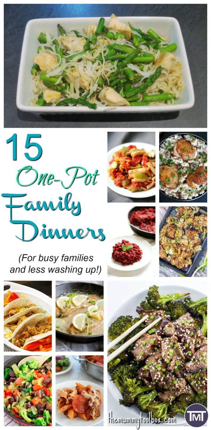 We have a bigger family now with less time to spend on cooking (and washing up) so here are 15 delicious family orientated one pot dinners to save time.