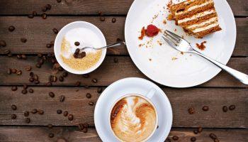 sugar, caffeine and cake can cause tiredness.