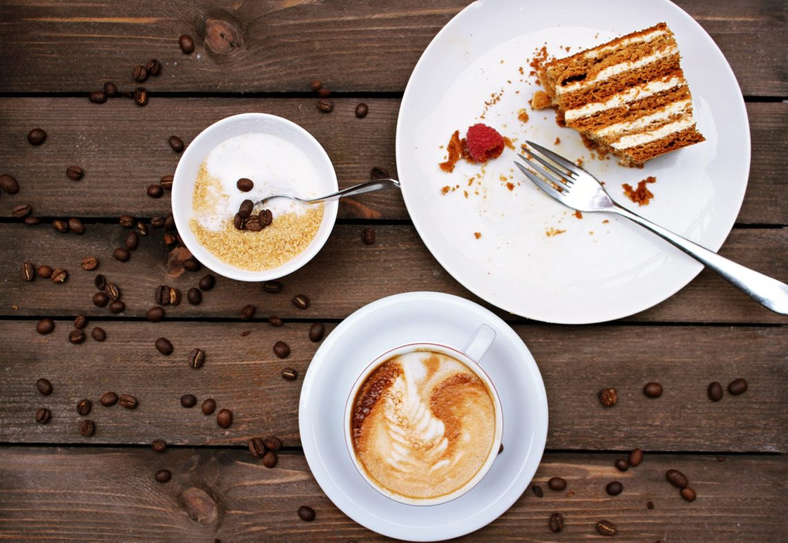 sugar, caffeine and cake can cause tiredness.