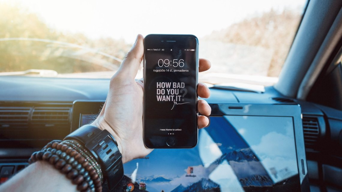 how bad do you want it on a phone overlooking the car dashboard for fitness motivation