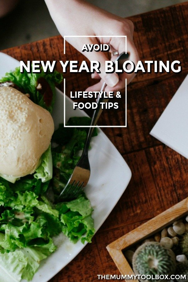 Time to beat New Year bloating with these tips and tricks from foods to avoid and consume as well as lifestyle changes to get back on track. #Health #bloating #healthylifestyle #health