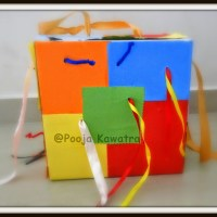 DIY Pull out String Motor Sensory activity for toddlers