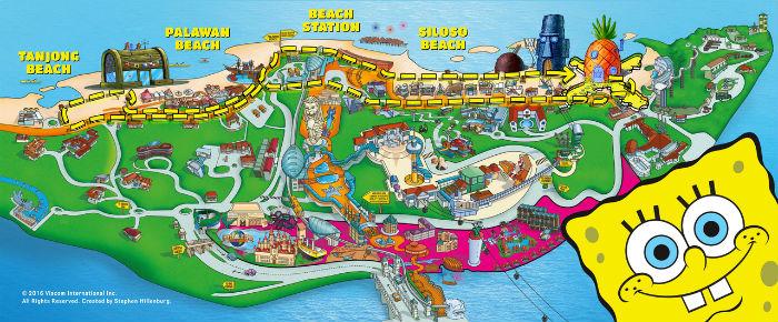 Spongebob run map