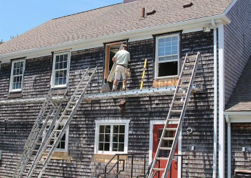 With a grant, WBFD covered 75 percent of the cost of replacing its fire station's windows with new hurricane-resistant glass — matching current building code for all windows within a mile of the ocean. Work on replacing the windows happened in July. (Photo provided)