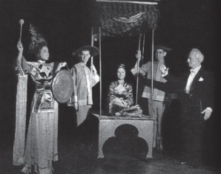 "Magician Harry Blackstone, far right, a name known throughout the Midwest during the fi rst half of the 20th century, discovered the community of Colon, Mich., in 1926 and is responsible for initiating its rise to fame as the ""Magic Capital of the World."" (Photo provided)"