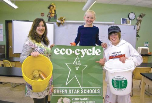 """Eco Cycle Solutions initiated a Green Stars School program, in which more than 40 schools are recycling and composting more than two-thirds of their waste. The initiative also teaches children to reduce waste, through innovative programs such as a Waste-Free Lunch contest and """"Locker Left overs."""" (Photo provided)"""