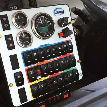 When operating from either the left side or right side of the cab, the control console on the A4 Storm allows easy access and ergonomics. (Photo provided)